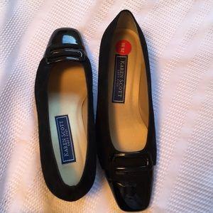 Karen Scott Black Suede/Patent Heels